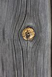 Weathered wood with knot Royalty Free Stock Photography