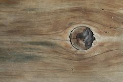 Weathered Wood with Knot Stock Image