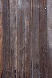 Weathered wood with nails and traces of white pain Royalty Free Stock Photos