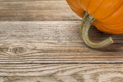 Weathered wood with pumpkin Stock Image