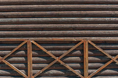 Weathered wood rustic background. Grey-brown Royalty Free Stock Image