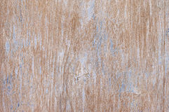 Weathered wood texture. Shabby weathered wood texture as background. Brown wood with remains of blue paint and scratches Stock Photography
