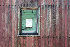 Weathered Wood Wall and Window Royalty Free Stock Images