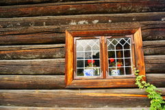 Weathered wood window planks, Norway Stock Photography