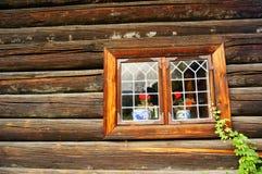 Weathered wood window planks, Norway Stock Photography