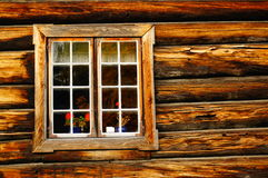 Weathered wood window planks, Norway Royalty Free Stock Photo