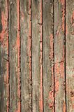 Weathered wooden background. Peeling paint, nailed boarded fence royalty free stock photos