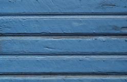 Weathered wooden background painted blue Royalty Free Stock Photos