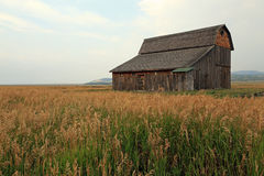 Weathered wooden barn Stock Photo