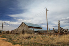 Weathered wooden barn Stock Image