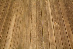 Weathered wooden boardwalk Stock Photography