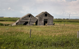 Weathered Wooden Buildings Royalty Free Stock Image