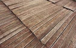 Weathered wooden deck Stock Image
