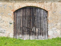 Weathered wooden door Stock Photography