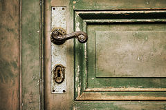 Weathered wooden door Royalty Free Stock Image