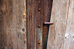Weathered wooden door Stock Photos