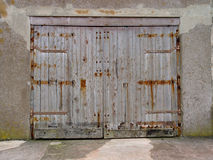 Weathered Wooden Doors Royalty Free Stock Images