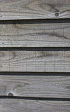 Weathered wooden feather edge boards Royalty Free Stock Photos