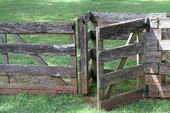 Weathered Wooden Fence and Gate Royalty Free Stock Photography