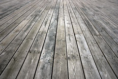 Weathered wooden floor Royalty Free Stock Photography