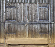 Weathered Wooden Gate Detail Stock Photography