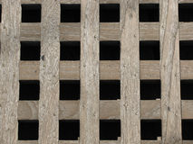 Weathered wooden grate Royalty Free Stock Photography