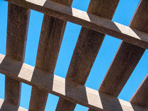 Weathered Wooden Pergola Top Stock Photography