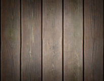 Weathered wooden plank background with dark edges Stock Photo