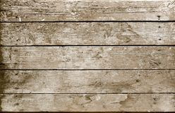 Weathered Wooden Plank Sepia Stock Photo