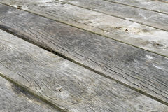 Weathered wooden planks. Royalty Free Stock Images