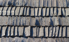 Weathered wooden shingles. Stock Images