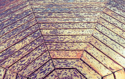 Weathered wooden square with textured grain and X -  shaped or d Royalty Free Stock Image