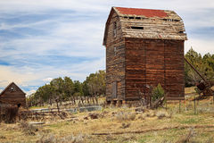Weathered wooden tall barn Royalty Free Stock Photography