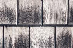 Weathered wooden tiles background stock photo