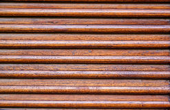 Weathered wooden ventilation louvers Stock Photo