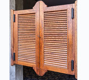 Weathered wooden ventilation louvers doors Royalty Free Stock Image