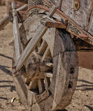 Weathered Wooden Wagon Stock Photography