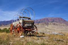 Weathered wooden wagon with hoops Stock Photography