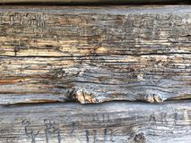 Weathered wooden wall Stock Photography