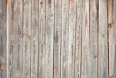 Weathered wooden wall with stains and cracks Stock Image
