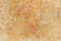 Weathered yellow limestone wall background. In Malta, closeup view Royalty Free Stock Image