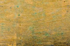 Weathered yellow wood with peeling paint Royalty Free Stock Images