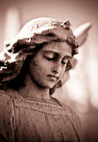 Weathered young angel in sepia Stock Photography