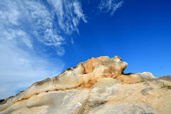 Weathering granite and sky color Royalty Free Stock Photography