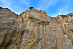 Weathering granite stone wall Stock Image