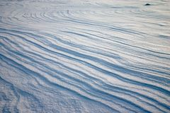 Weathering on the snow plain. Pattern of weathering lines on the snow plain Royalty Free Stock Image