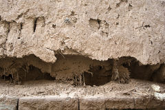 Weathering of soil wall royalty free stock image