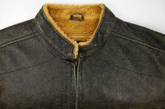 Weatherproof leather-like jacket Royalty Free Stock Images
