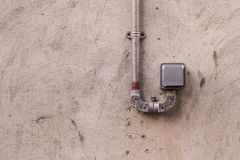 Weatherproof single power plug socket stock photos