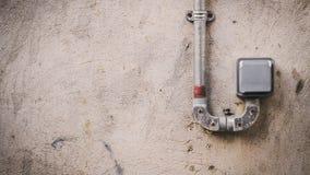 Weatherproof single power plug socket stock photography